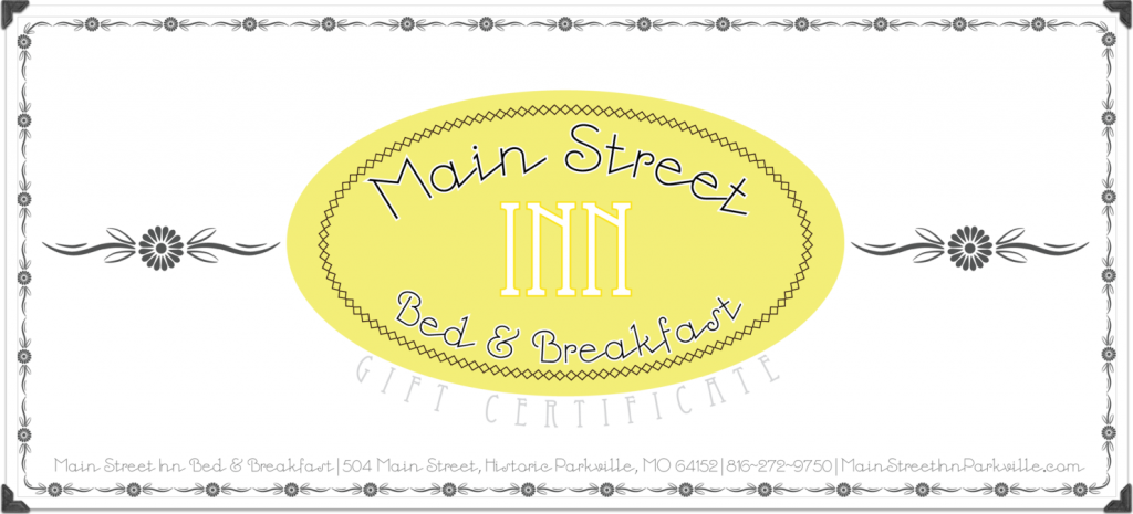 Gift Certificates Kansas City Bed Breakfast – Gift Certificate Wording